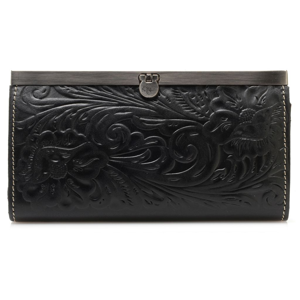 715-541 - Patricia Nash Tooled Leather Frame Wallet