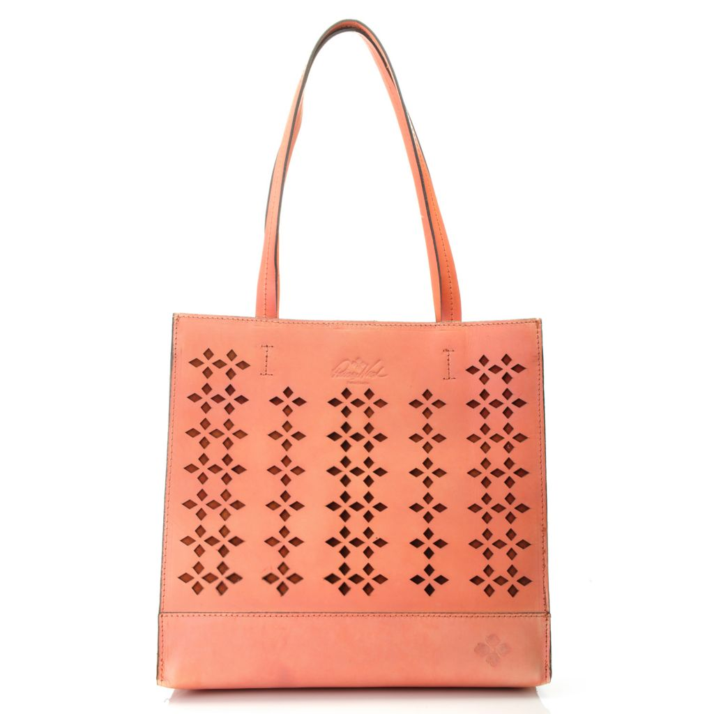 715-546 - Patricia Nash Perforated Leather Double Handle Tote Bag