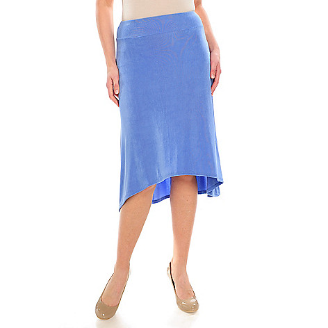 715-578 - Affinity for Knits™ Wide Waistband Hi-Lo Hem Pull-on Skirt