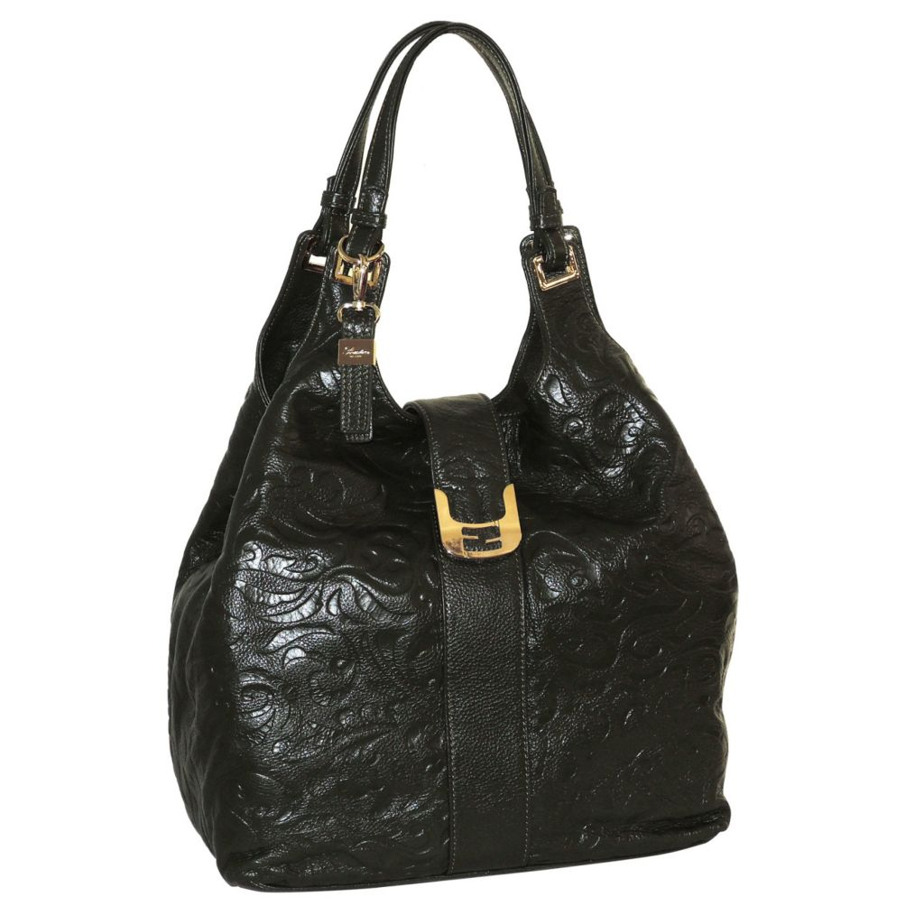 715-604 - Buxton® Swirl Embossed Leather Hobo