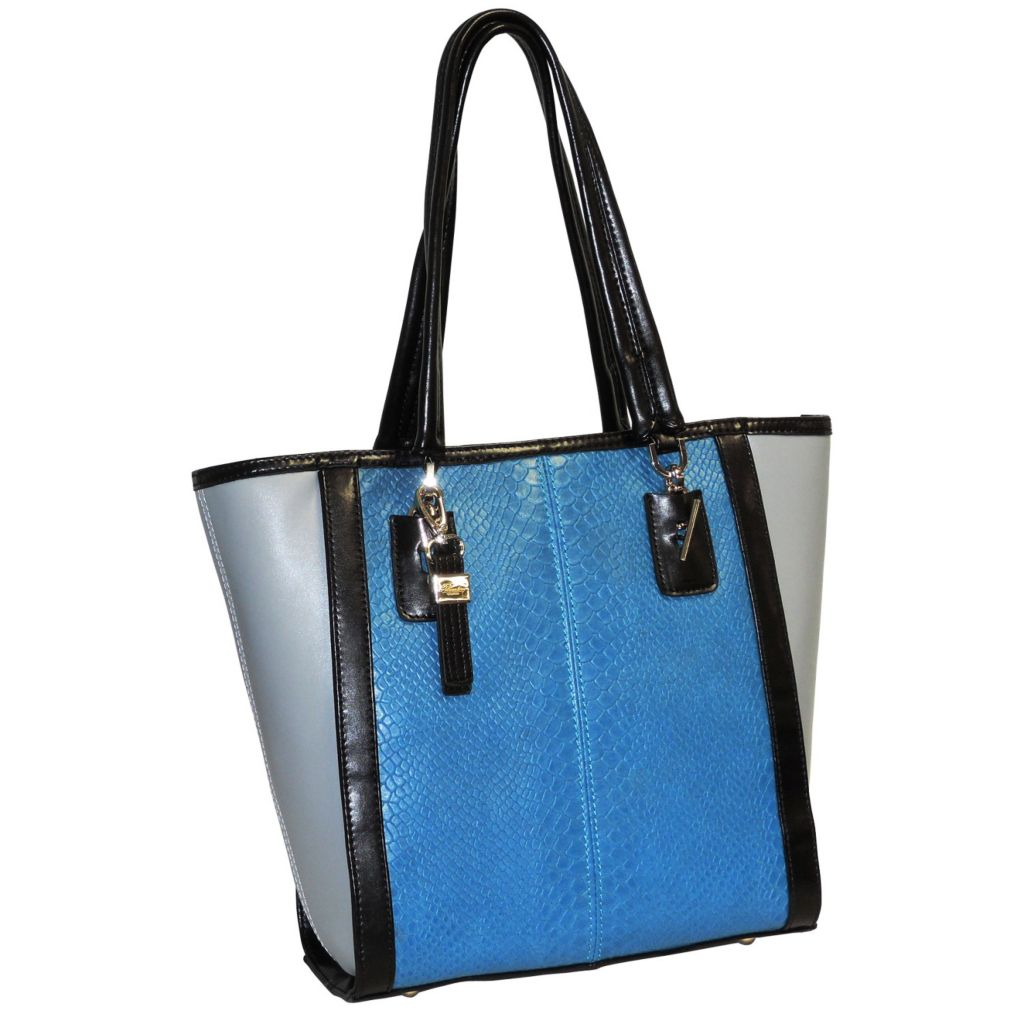 715-607 - Buxton® Color Blocked Leather Tote