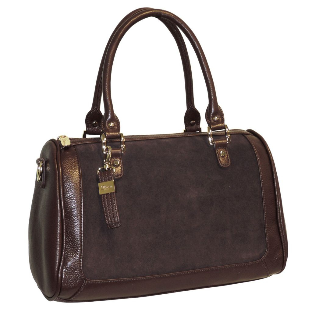 715-614 - Buxton® Suede Accent Leather Satchel
