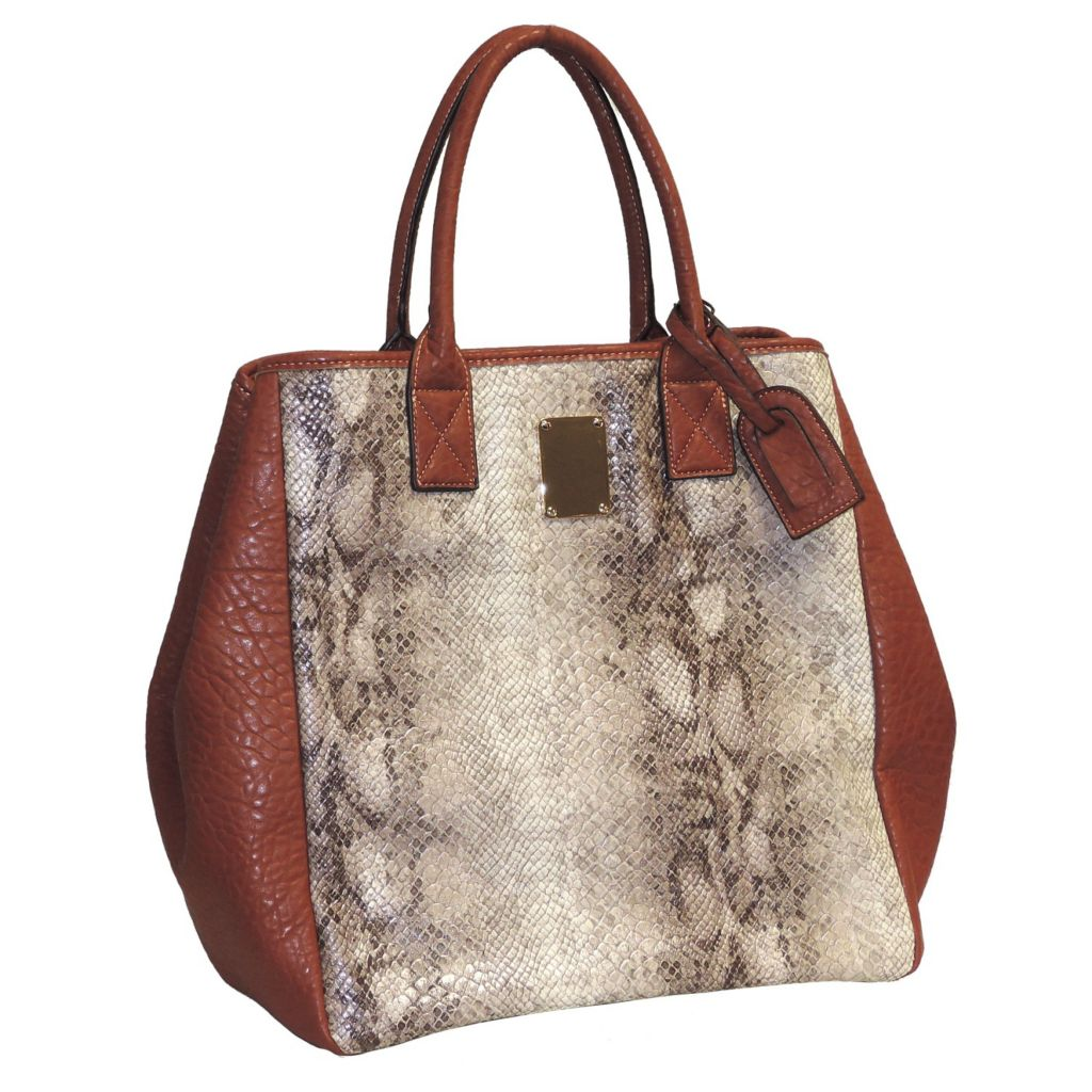 715-618 - Buxton® Python Print Distressed Finish Tote