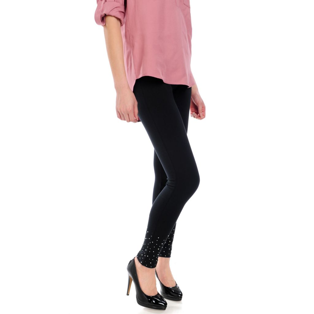 715-659 - Pant-O-Rama Stretch Knit Firm Control Top Embellished Leggings