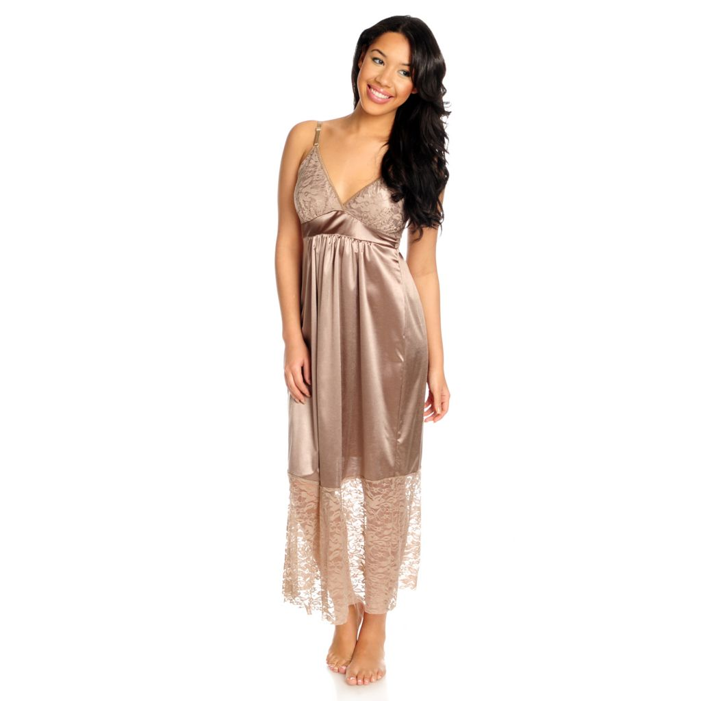 715-678 - Slim-A-Size Stretch Knit Empire Waist Bust Enhancing Nightgown