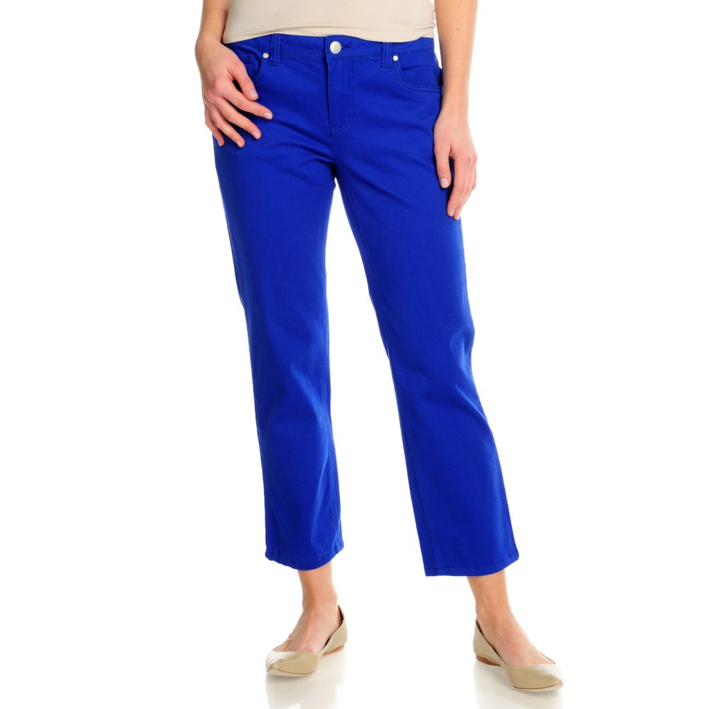715-705 - OSO Casuals Stretch Twill Embellished Straight Leg Ankle Pants