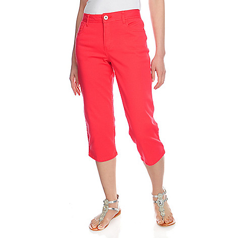 715-706 - OSO Casuals Stretch Twill Five-Pocket Straight Leg Capri Pants