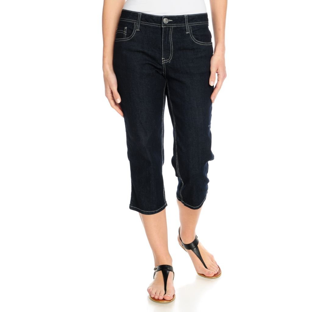 715-707 - OSO Casuals Stretch Denim Straight Leg Five-Pocket Capri Pants