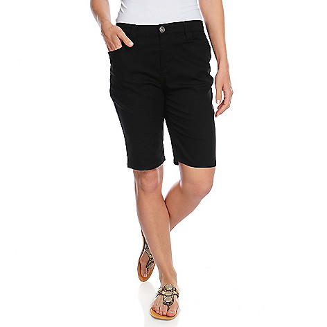 715-708 - OSO Casuals Stretch Twill Elastic Waist Five-Pocket Bermuda Shorts