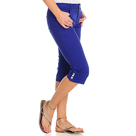 715-727 - OSO Casuals™ Stretch Twill Snap Hem Five-Pocket Capri Pants