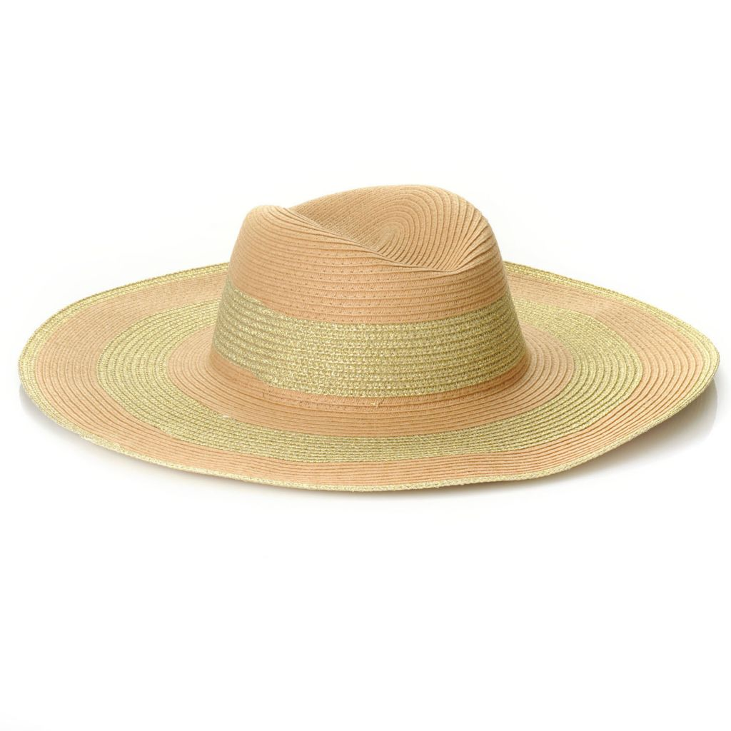 715-801 - Collection XIIX Metallic Striped Floppy Hat