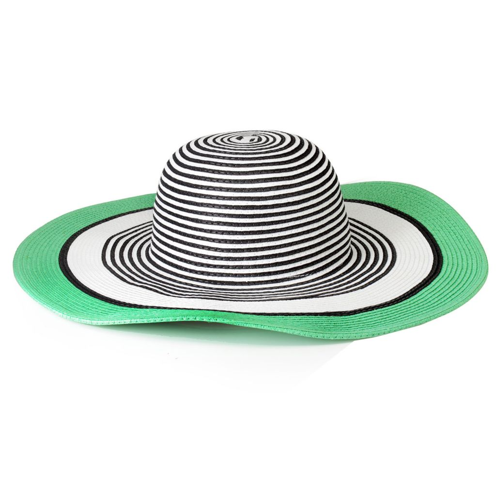715-802 - Collection XIIX Color Block Striped Floppy Hat