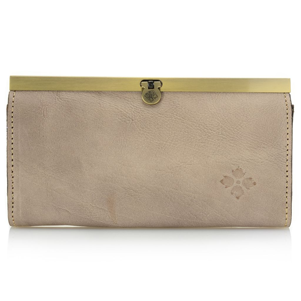 715-820 - Patricia Nash Leather Fold Lock Framed Wallet