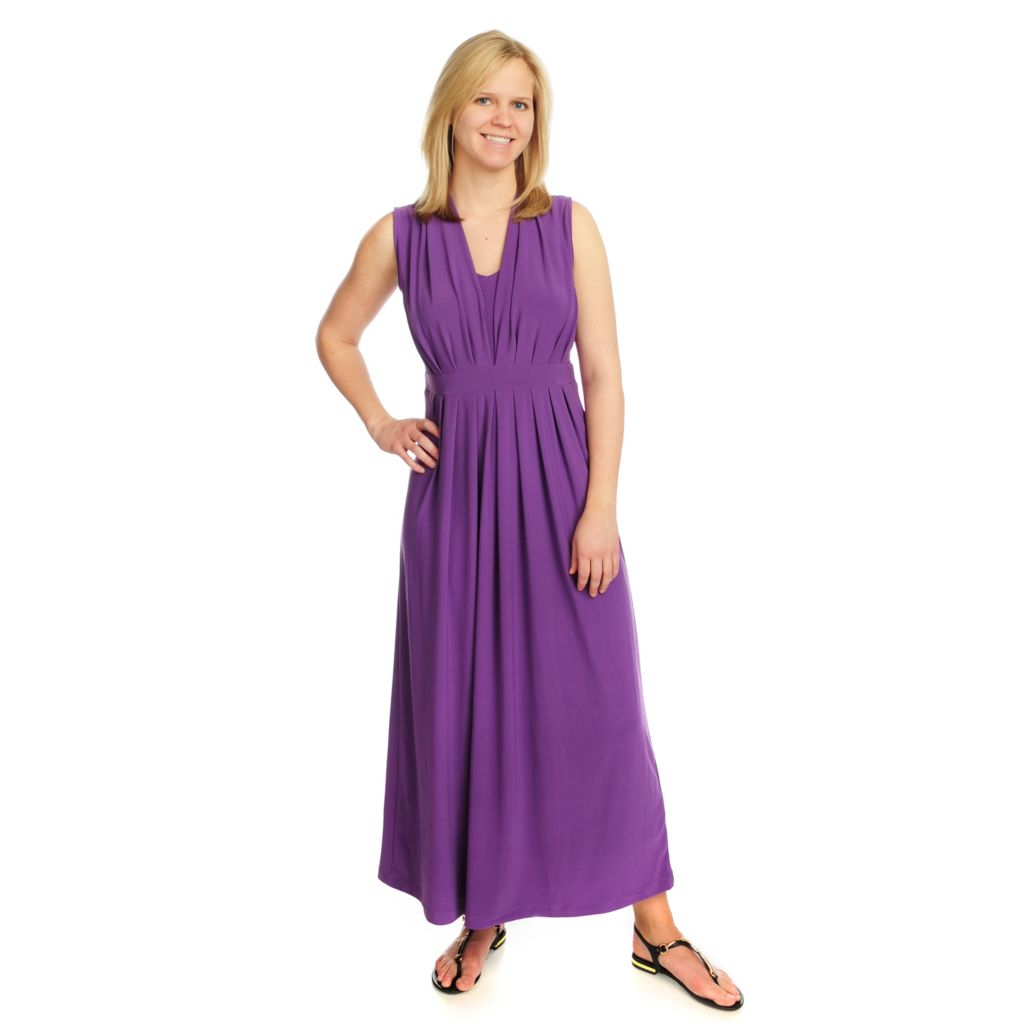 715-824 - Kate & Mallory Stretch Knit Sleeveless V-Neck Maxi Dress