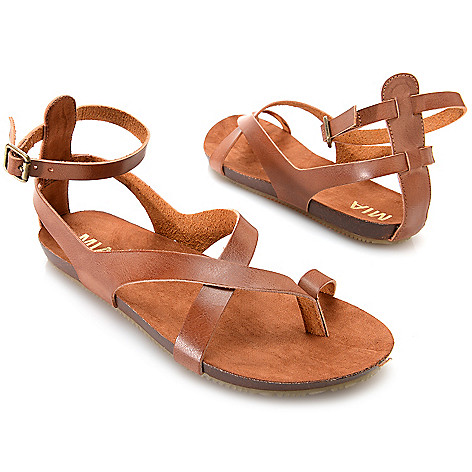 715-826 - MIA ''Gumdrop'' Thong-Style Crisscross Ankle Strap Sandals