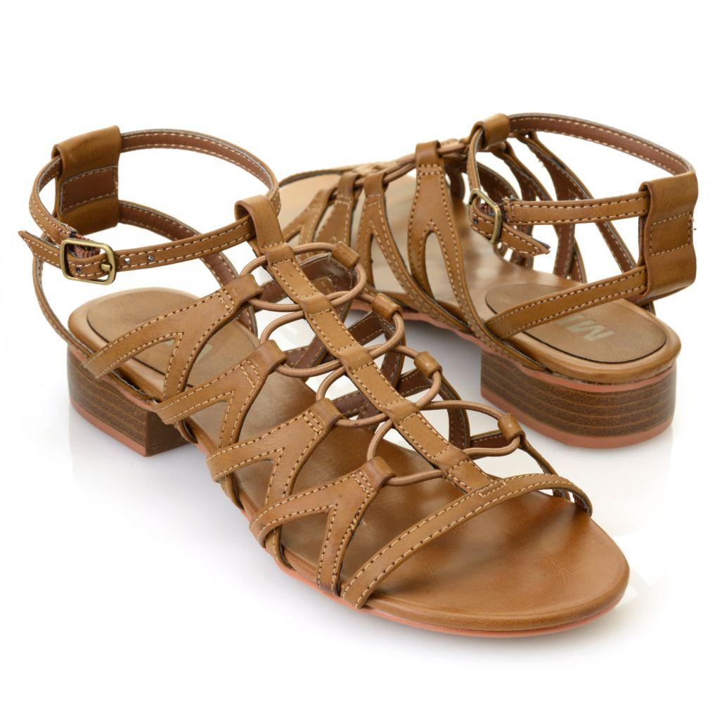 715-829 - MIA Crisscross Elastic Cord Gladiator Sandals