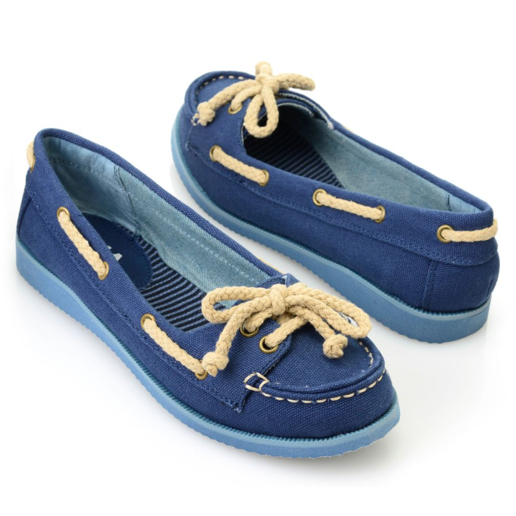 715-840 - MIA Canvas Rope Detailed Slip-on Boat Shoes
