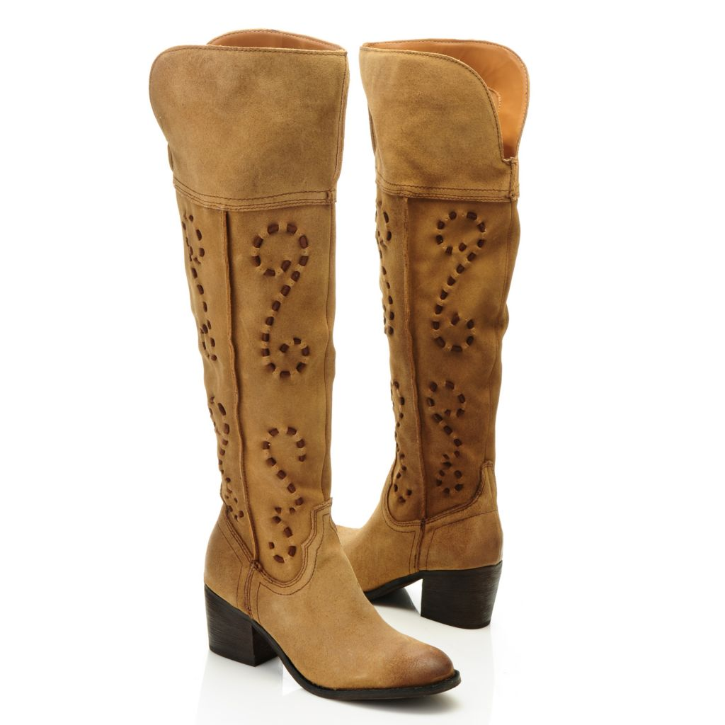 715-852 - Carlos by Carlos Santana Suede Leather Over-the-Knee Boots