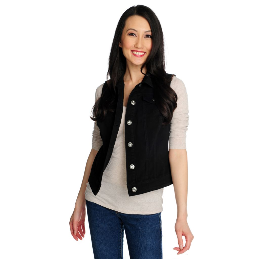 715-860 - OSO Casuals Stretch Twill Embellished Button Vest