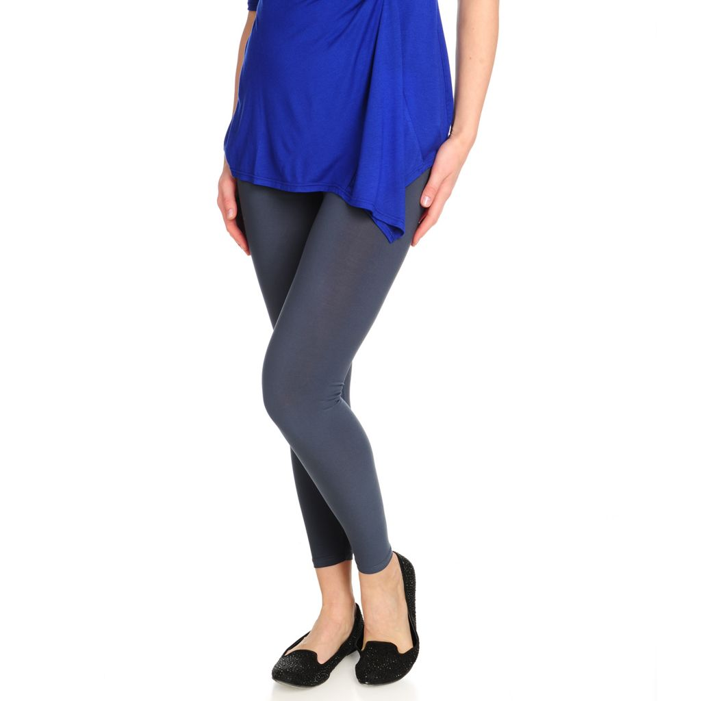715-875 - aDRESSing WOMAN Stretch Knit Wide Waistband Ankle Length Leggings