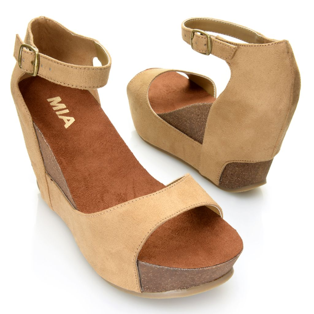 715-892 - MIA Open Toe Ankle Strap Wedge Sandals