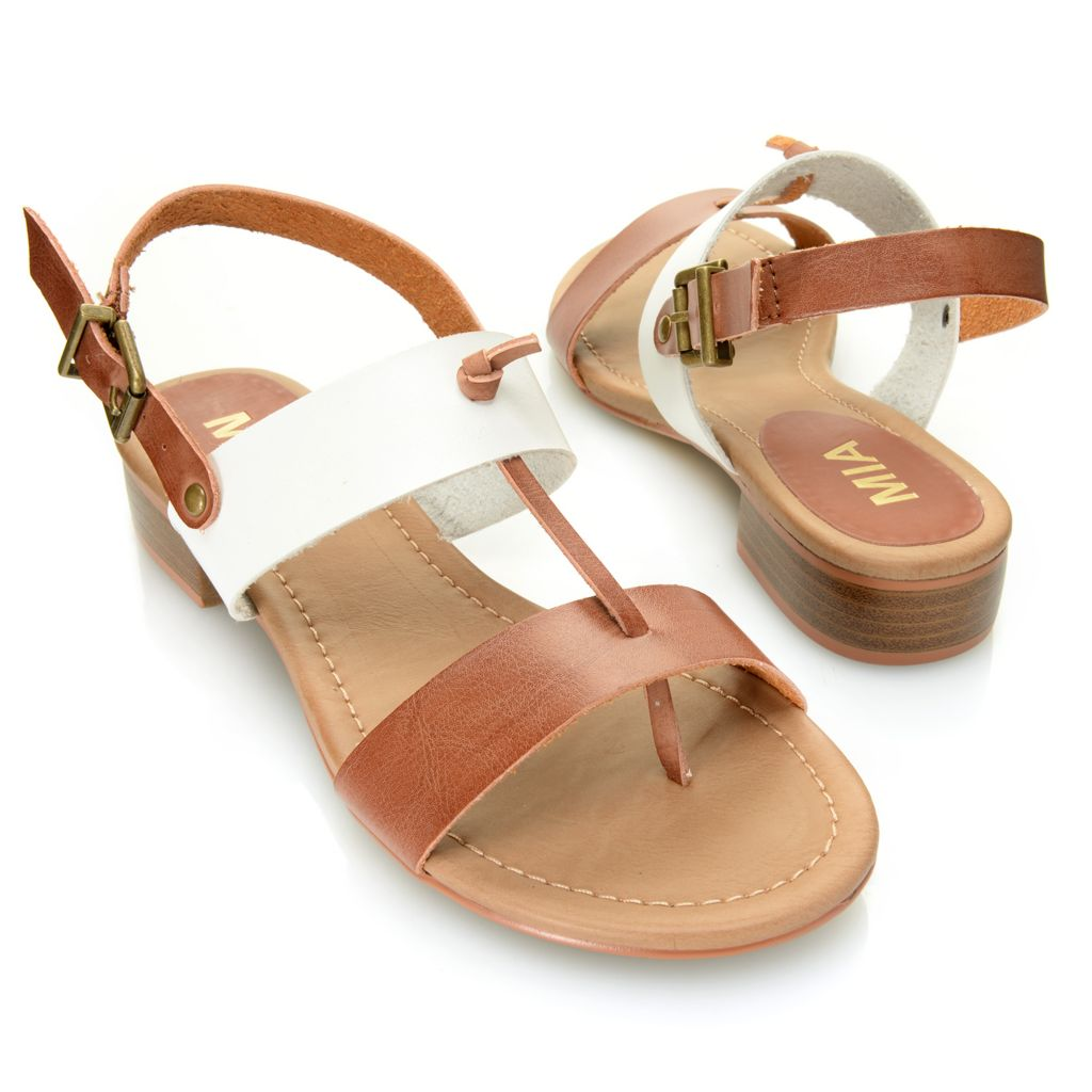 715-893 - MIA Thong-Style Double Strap Knot Detailed Sandals