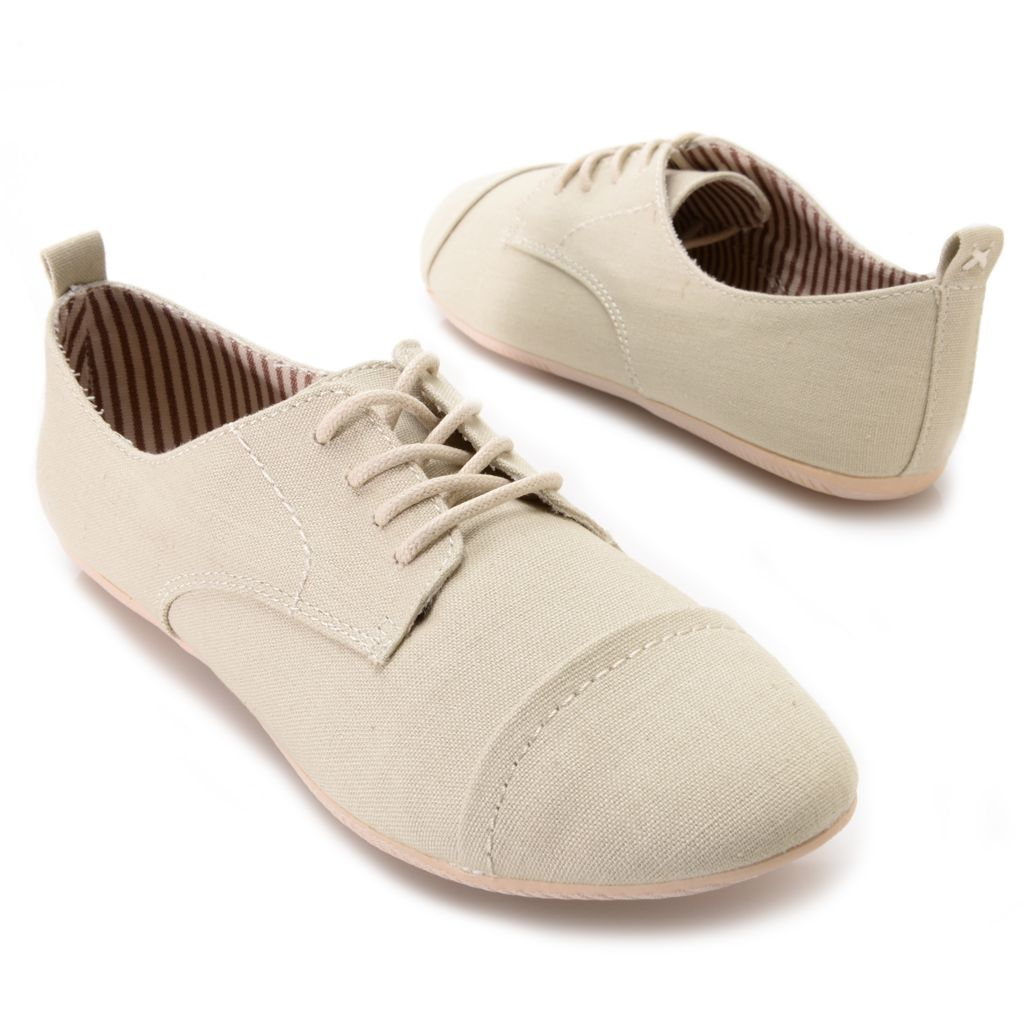 715-897 - MIA Canvas Oxford-Style Lace-up Shoes