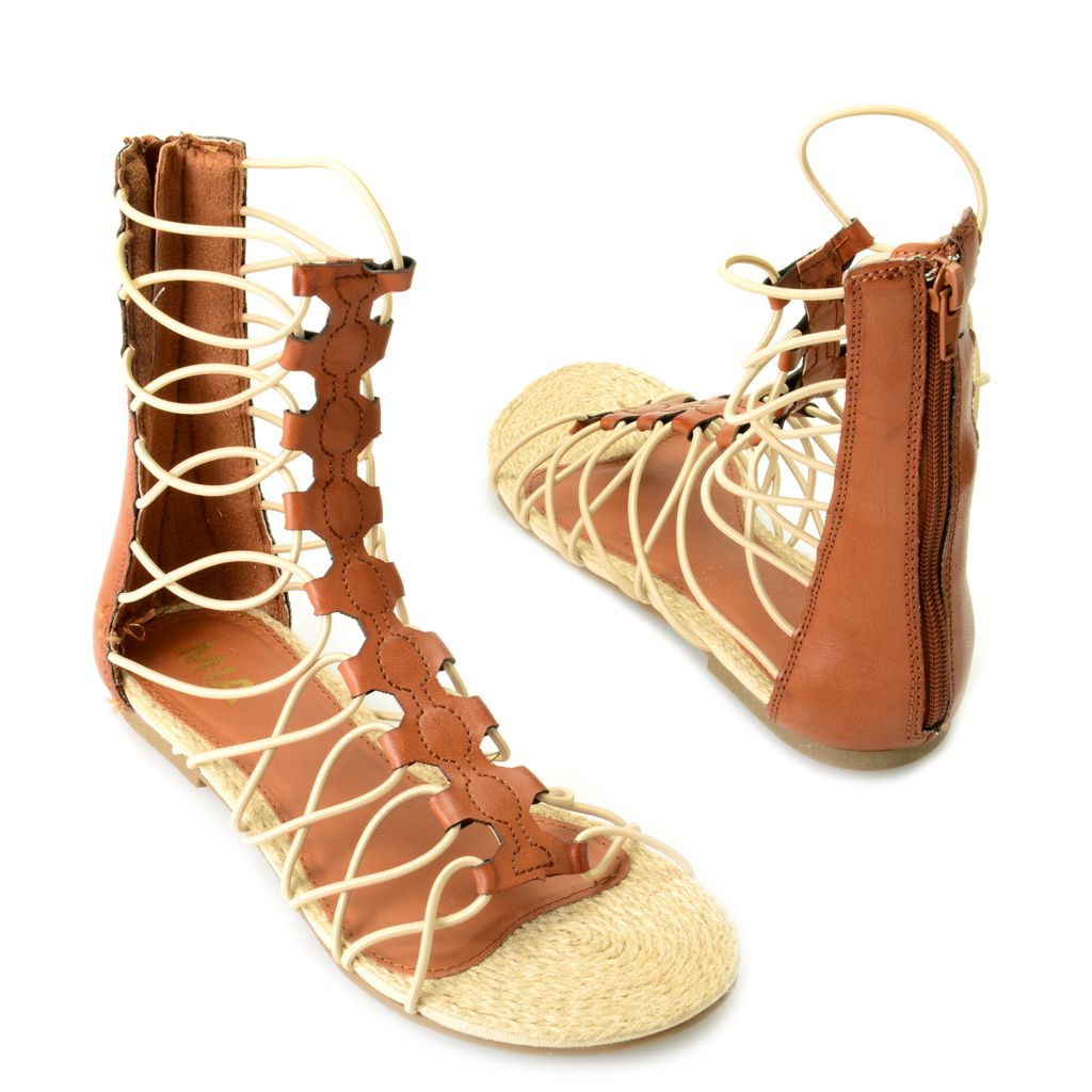 715-899 - MIA Back Zip Stretch Cord Gladiator Sandals