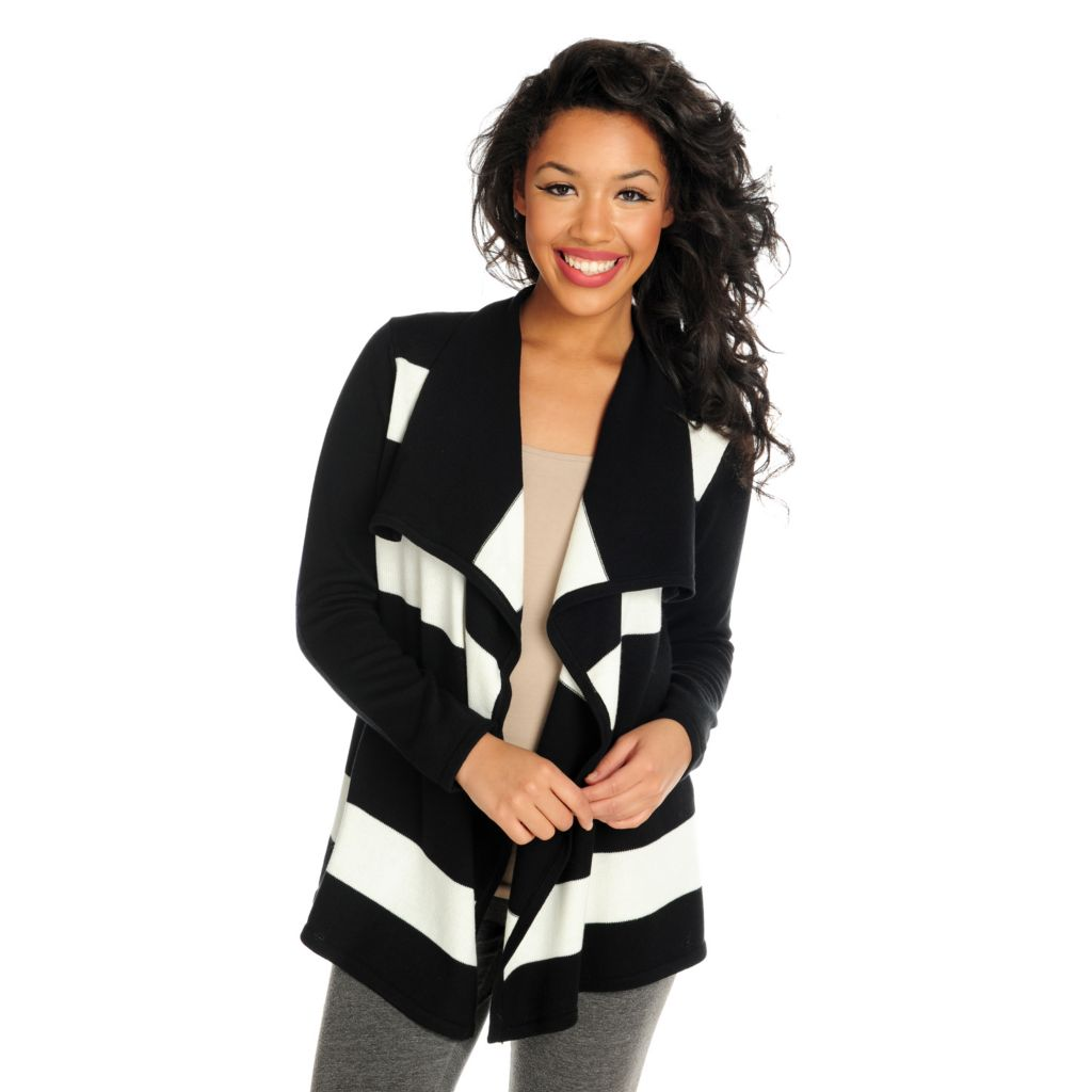715-940 - Love, Carson by Carson Kressley Sweater Knit Long Sleeved Open Cardigan