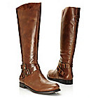 715-949 - Matisse® Brazilian Leather Buckle Detailed Side Zip Knee-High Riding Boots