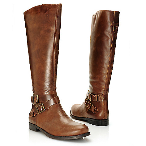 715-949 - Matisse ''Britain'' Brazilian Leather Buckle Detailed Side Zip Knee-High Riding Boots