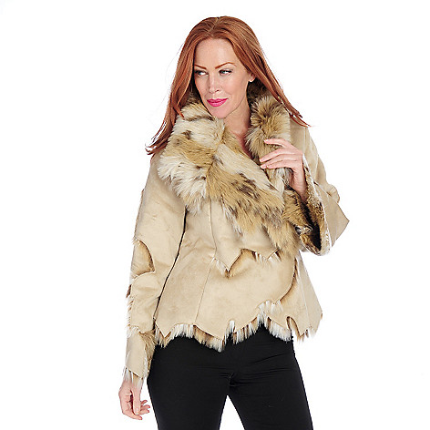 715-960 - Donna Salyers' Fabulous-Furs Faux Fur Dakota Lynx Button Jacket