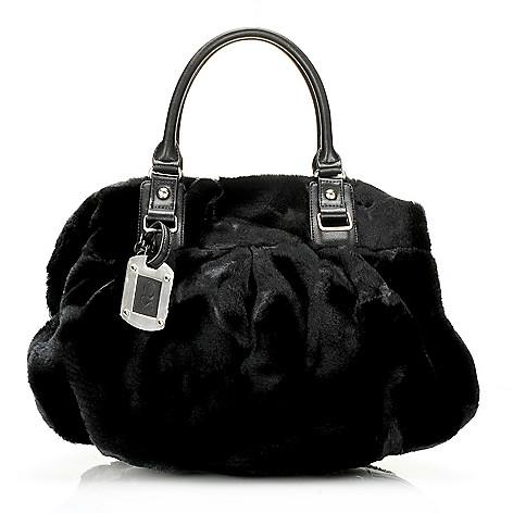 715-961 - Donna Salyers' Fabulous-Furs Faux Fur Double Handle Convertible Satchel