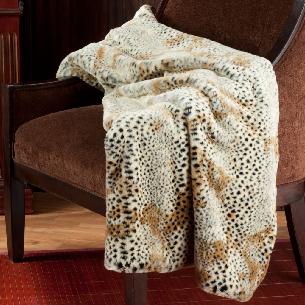 "715-962 - Donna Salyers' Fabulous-Furs 60"" x 60"" Velvet Lined Faux Fur Throw"