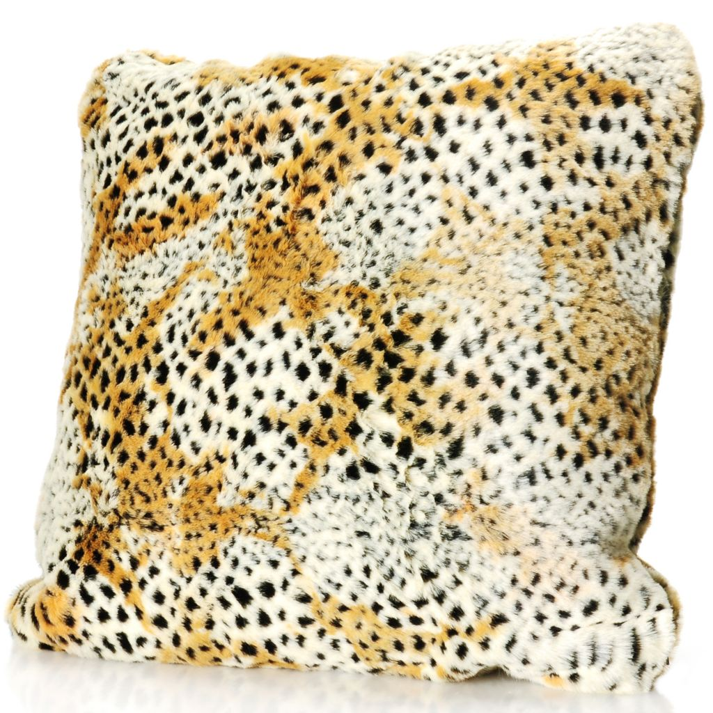 "715-963 - Donna Salyers' Fabulous-Furs 18"" x 18"" Faux Fur Pillow"
