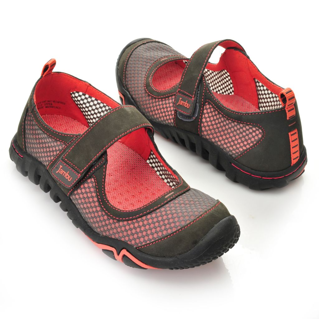 715-968 -  Jambu Leather & Mesh Air Vent Design Mary Jane Comfort Shoes