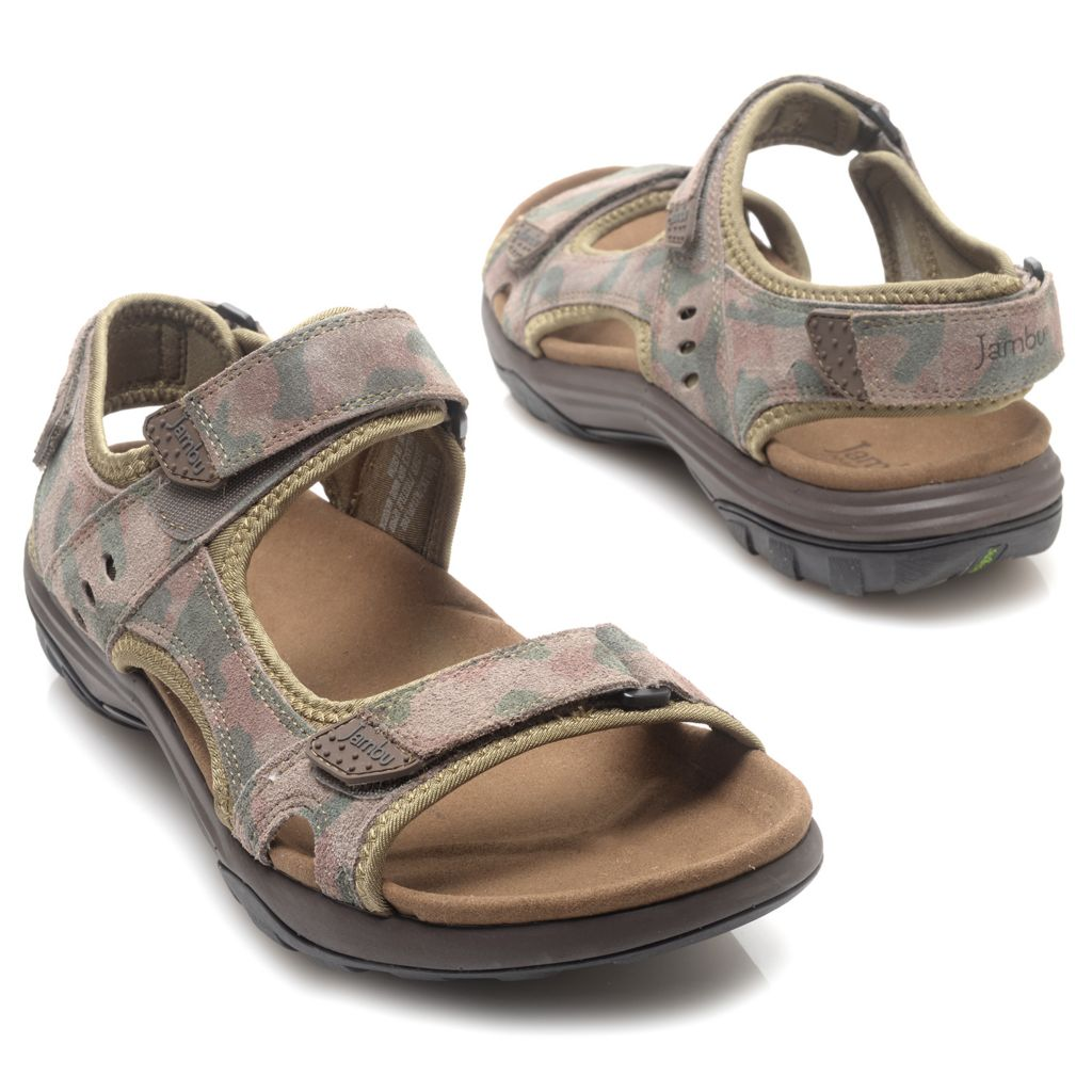 715-979 - Jambu Men's Leather Adjustable Strap Sport Sandals