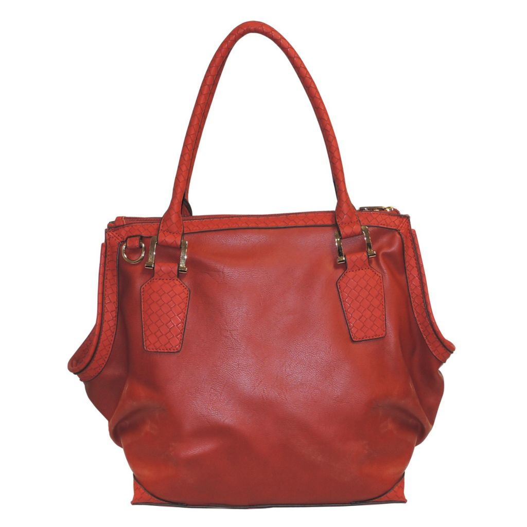 716-006 - Buxton® Distressed Woven Trim Tote