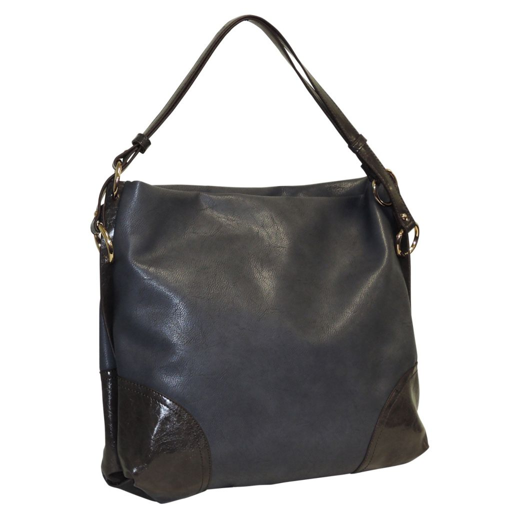 716-011 - Buxton® Double Handle Square Hobo Bag