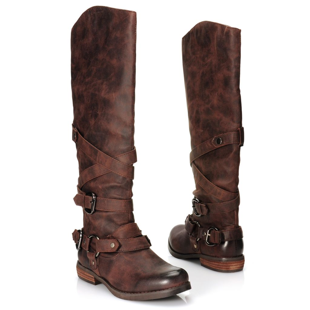 716-013 - Matisse® Crisscross Strap & Harness Detailed Tall Boots