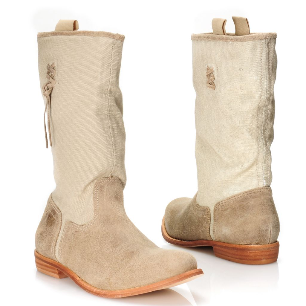 716-014 - Matisse® Leather & Canvas Mid-Height Pull-on Boots