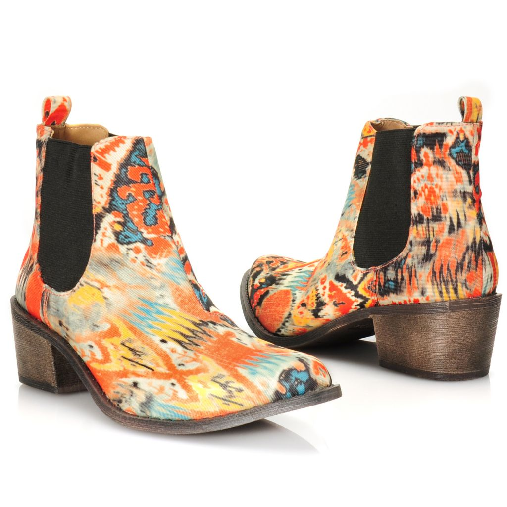 716-017 - Matisse® Multi Colored Side Gored Ankle Boots