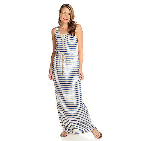 716-048 - Kate & Mallory® Stretch Knit Sleeveless Tie-Waist Maxi Dress