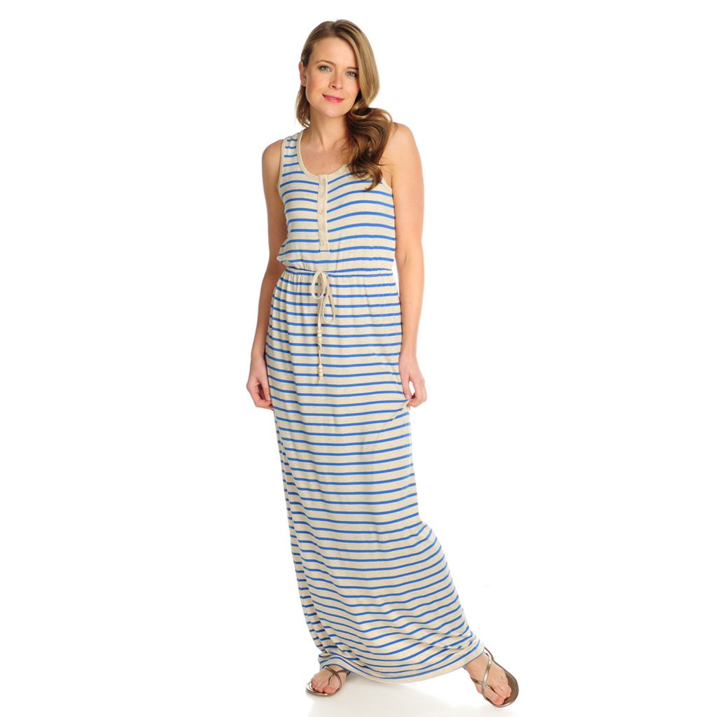 716-048 - Kate & Mallory Stretch Knit Sleeveless Tie-Waist Maxi Dress