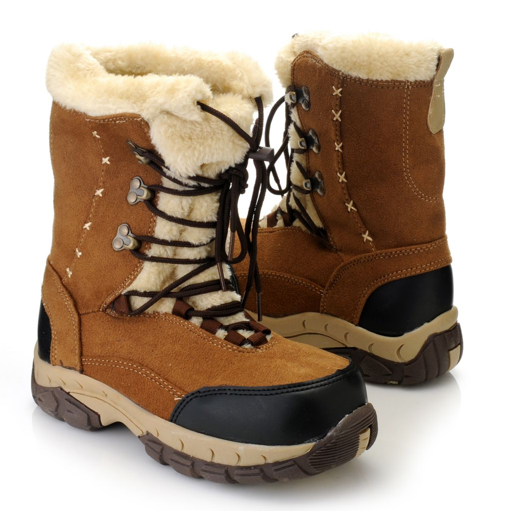 716-055 - Itasca Cuffed Lace-up Mid-Height Boots