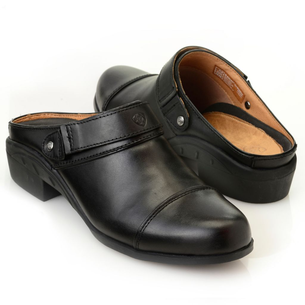 716-090 - Ariat® Leather Backless Mule Clogs