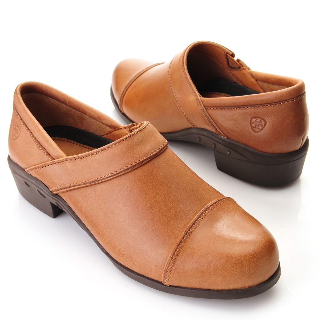 716-096 - Ariat® Leather Slip-on Sport Clogs