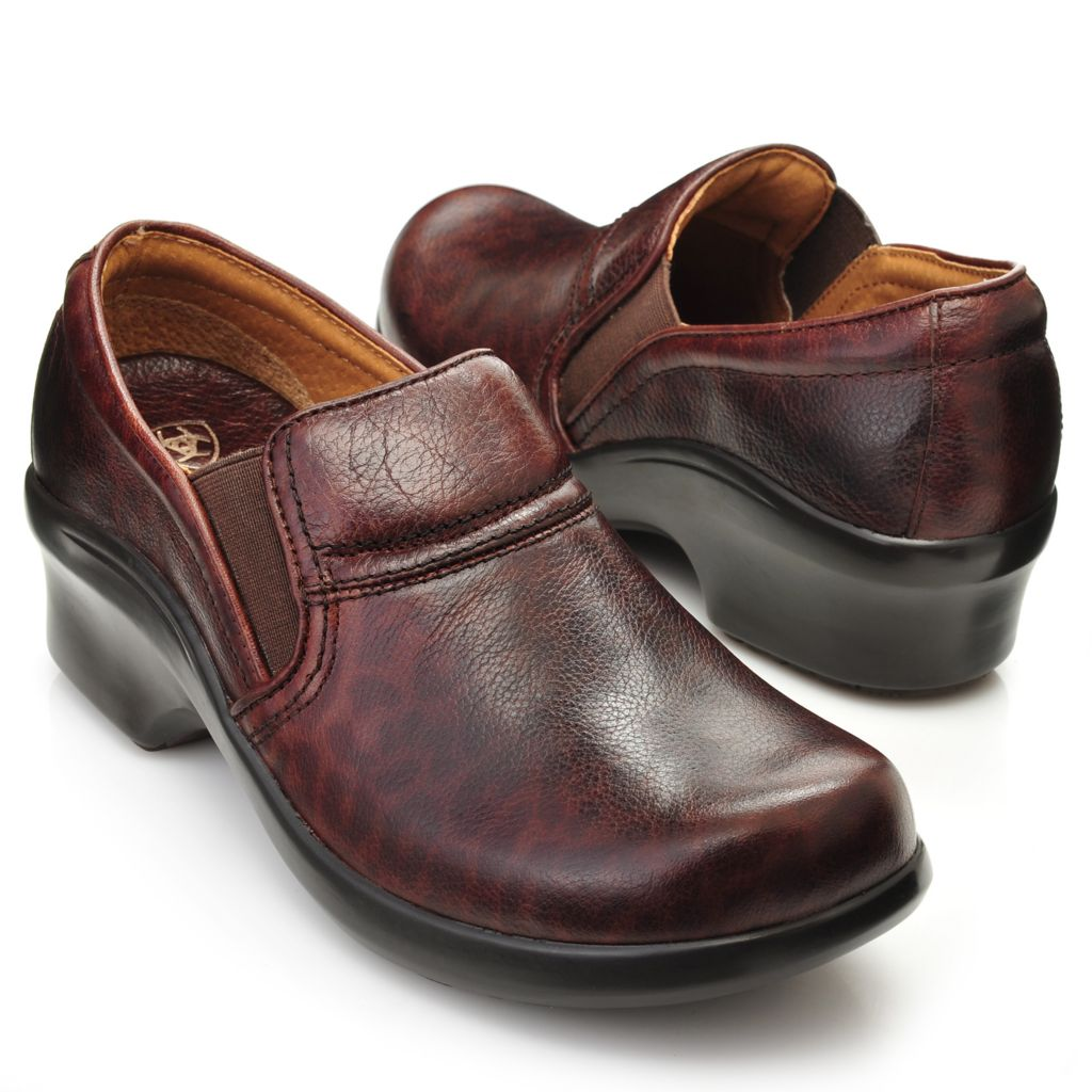 716-097 - Ariat® Smooth Leather Slip-on Clogs
