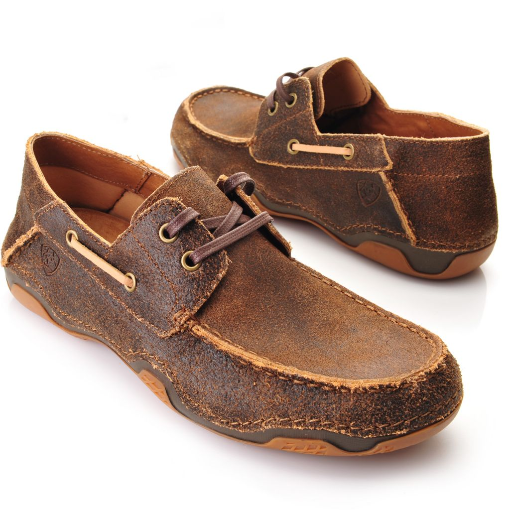 716-100 - Ariat® Men's Distressed Leather Lace-up Loafers