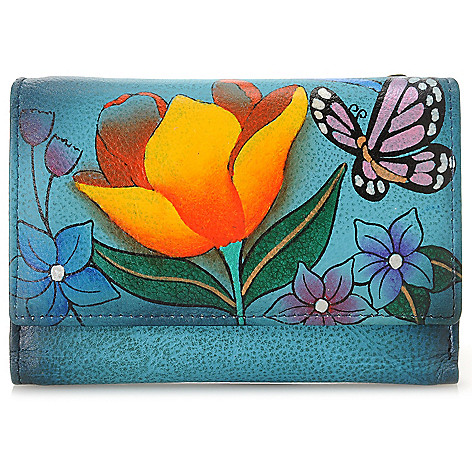716-125 - Anuschka Hand-Painted Leather Tri-Fold Wallet